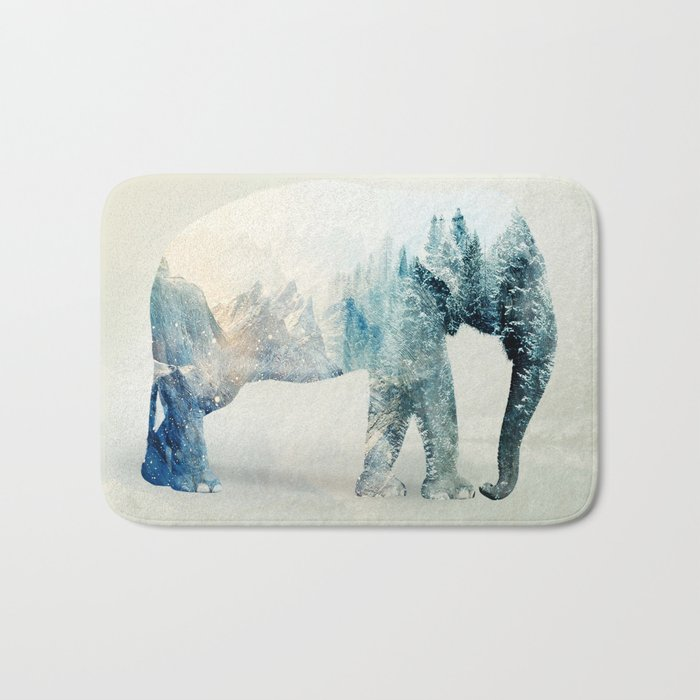 Vanishing Elephant  Bath Mat