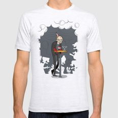 Richter at the Party SMALL Mens Fitted Tee Ash Grey