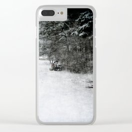 Along The Line Clear iPhone Case