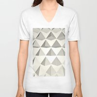 pyramid V-neck T-shirts featuring Pyramid by Lauren Miller