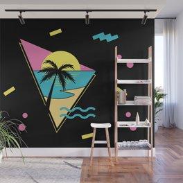 Memphis pattern 42 - 80s / 90s Retro / palm tree / summer Wall Mural