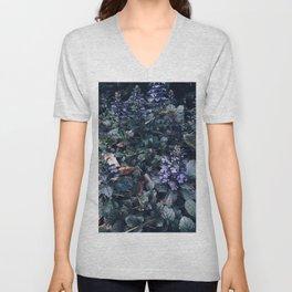 Proud Little Purple Flowers Unisex V-Neck