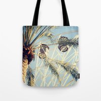 ferris wheel Tote Bags featuring Ferris Wheel by Kameron Elisabeth