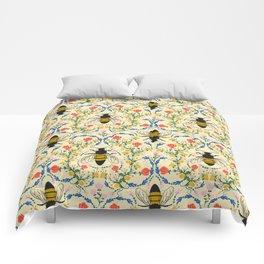 Bee Garden - Cream Comforters