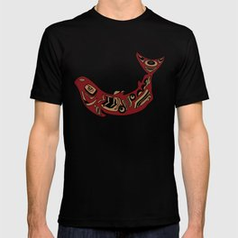Pacific Northwest Salmon Native American Indian Art T-shirt