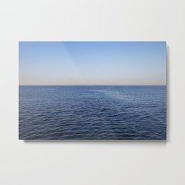 Ocean blue horizon Metal Print