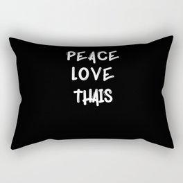 Peace love Thai Thai cat breed gifts cat lover cat Rectangular Pillow
