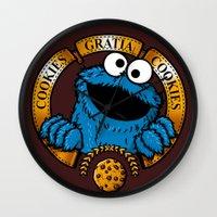 cookies Wall Clocks featuring Cookies Gratia Cookies by ikado