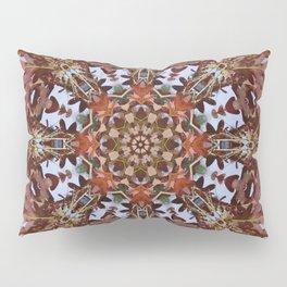 Autumn oak and pine kaleidoscope Pillow Sham