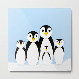 The Penguin Family Metal Print