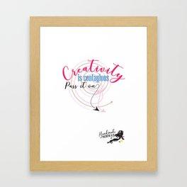 Creativity is Contagious card Framed Art Print