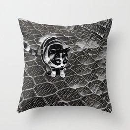 Street Cat XV Throw Pillow