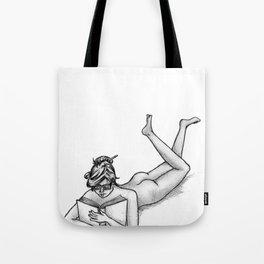 Reading Naked Tote Bag