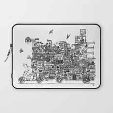 Busy City – On Your Bike Laptop Sleeve