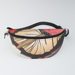 Butterfly over a heart, a symbol of romance. Fanny Pack
