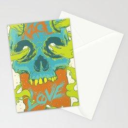 Rage Love Skull Stationery Cards
