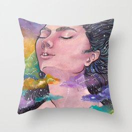 Child of the Stars Throw Pillow