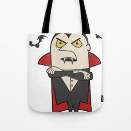 Retro Vintage Dracula Vampire Tote Bag