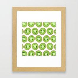 Kiwi Pattern  |  White Background Framed Art Print