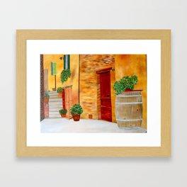 Village in Tuscany #1 Framed Art Print