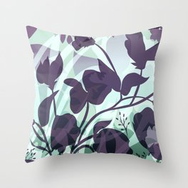 Sassy Sedge - cool colors Throw Pillow