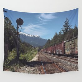Mountain Railway Wall Tapestry