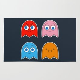 Pac Man's Ghosts Rug