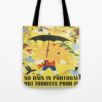 portugal Tote Bags featuring Portugal by Kathead Tarot/David Rivera