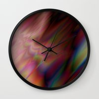 prism Wall Clocks featuring Prism by KK Powell