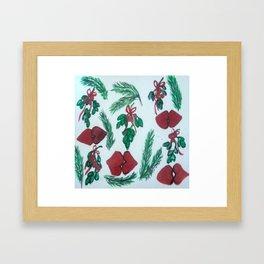 Underneath the Mistletoe Framed Art Print