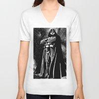 vader V-neck T-shirts featuring Vader by Saundra Myles