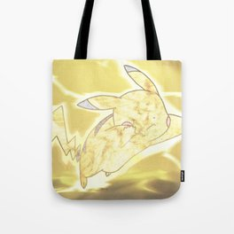 Electric Mouse Monster Attack Tote Bag