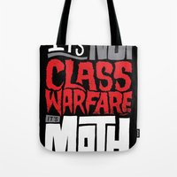 math Tote Bags featuring It's Math by Chris Piascik