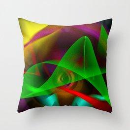 silent pointillism Throw Pillow