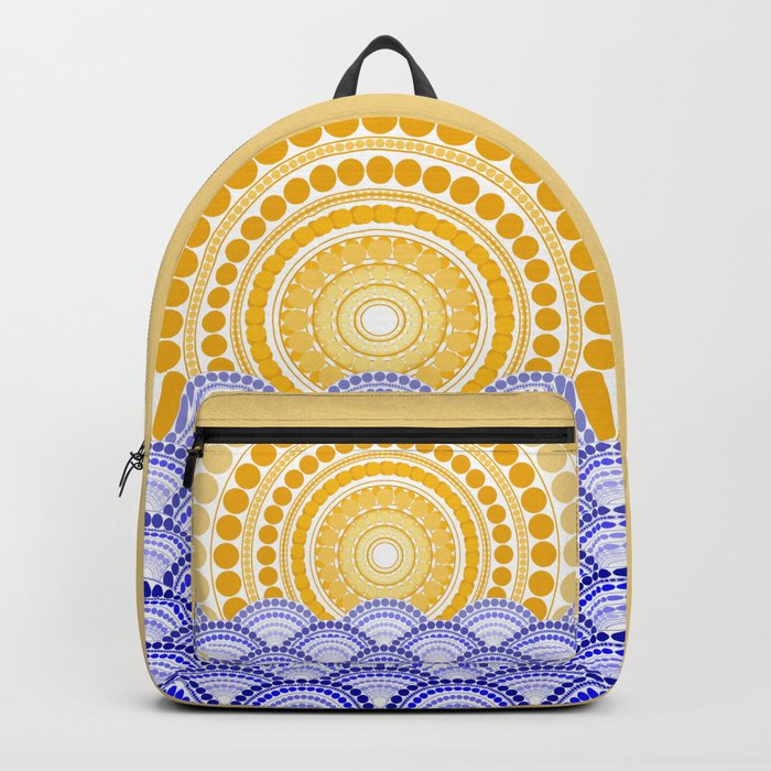 LIGHT OF DAWN (abstract seascape tropical) Backpack