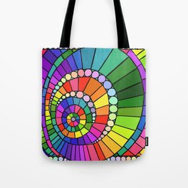 Rainbow Spiral Tote Bag