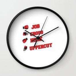Job Cross Hook Uppercut Wall Clock