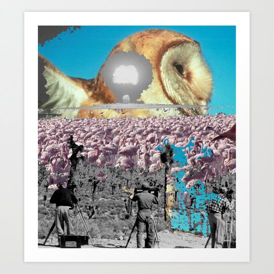 Owl and other things Art Print
