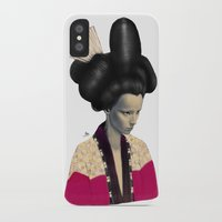 geisha iPhone & iPod Cases featuring Geisha by Albert Lee