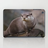 otter iPad Cases featuring Otter by SomniumStudios.co.uk