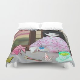 ** Meiling is going to spend Saturday making her favourite hobby: Origami animals. ** Duvet Cover
