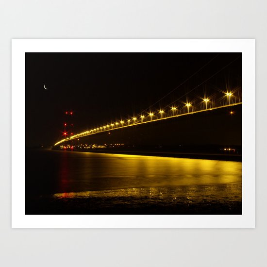 River of Gold- Humber Bridge Art Print