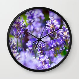 Bunch of beautiful lavender flowers in close-up from France Wall Clock