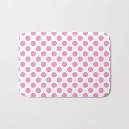 Light Pink Polka Dots Bath Mat