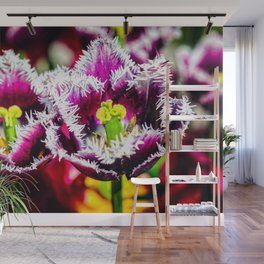 Cool Purple Tulip Flowers. A King And A Queen Wall Mural
