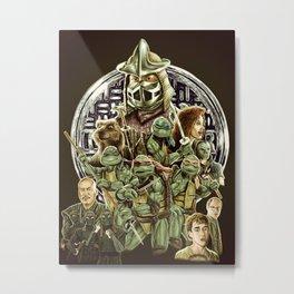 TMNT 1990 Metal Print