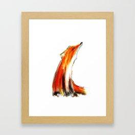 Wise Fox Reverse Framed Art Print