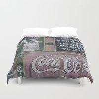 coca cola Duvet Covers featuring Coca-Cola & Borax by Andrea Jean Clausen - andreajeanco