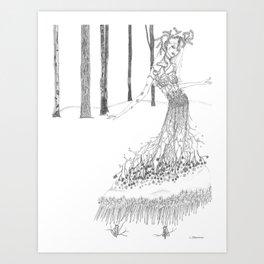 Wearable Winter Hike Art Print