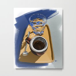 Espresso at Coffee Folk Metal Print